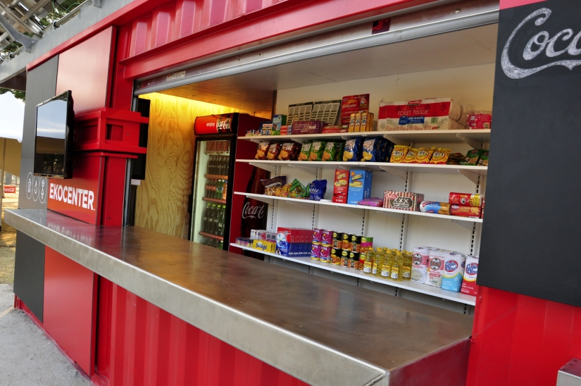 Coca Cola Saves Lives with ShippingContainers!