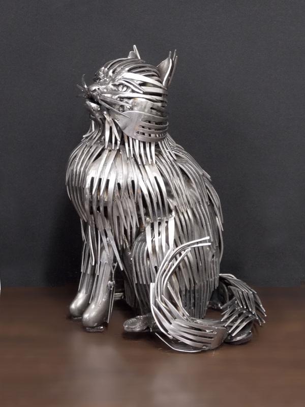 kitchen utensils art. Ohio-Artist-Turns-Kitchen-Utensils-in-Amazing-Scultures- Kitchen Utensils Art