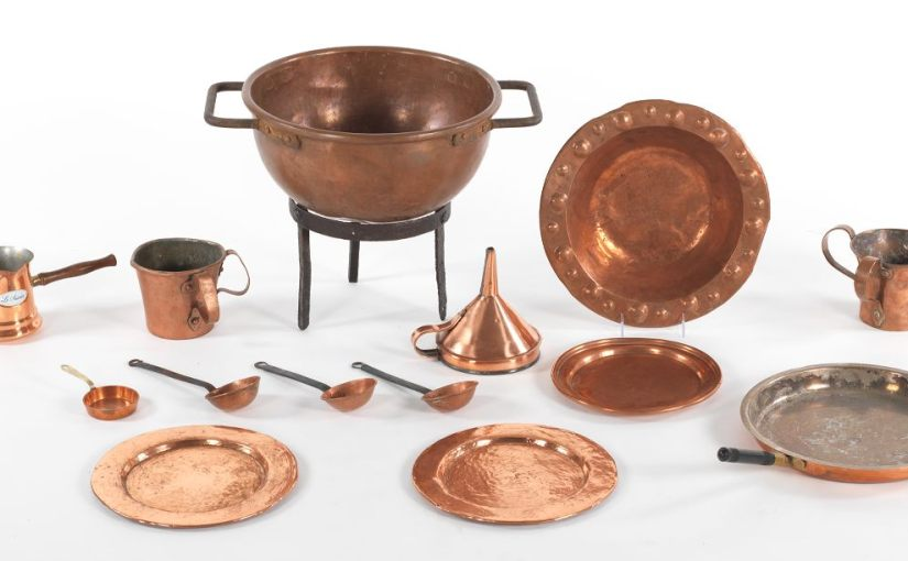 Home decorated with coppercookware