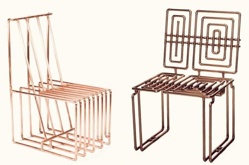 Copper tubing furniture