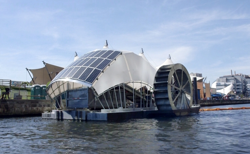 Solar-Powered Water Wheel in Baltimore cleans 50,000 Pounds of Trash per Day