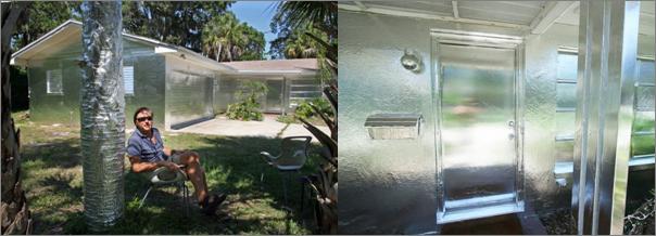 aluminium foil house