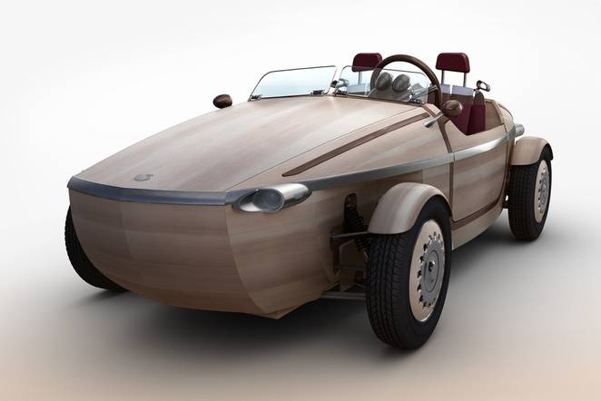 THE NEW TOYOTA WOODEN CARDESIGN